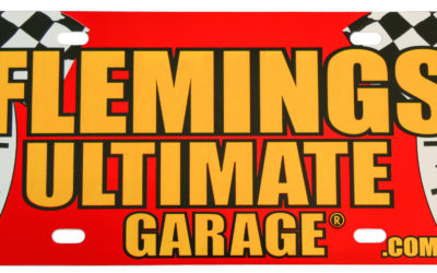 Flemings Ultimate License Plate, PE White