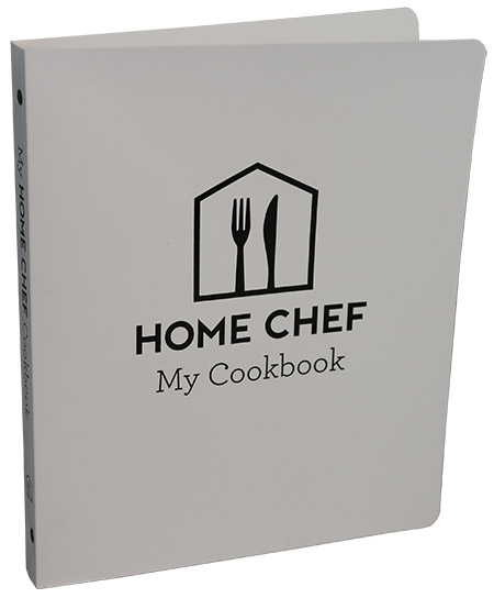 Home Chef Cookbook Binder, PE White