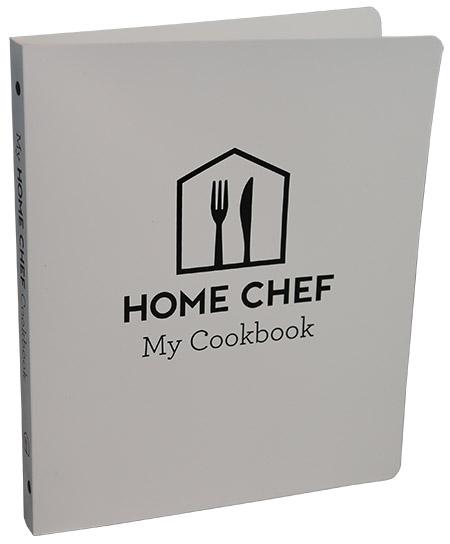 Home Chef Cookbook Binder, PE White