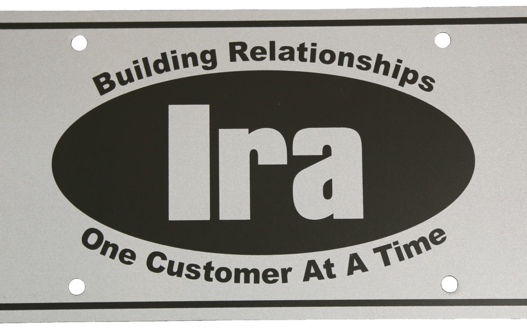Ira License Plate, PE Black