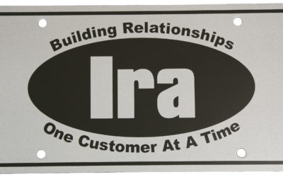 Ira License Plate, PE Black