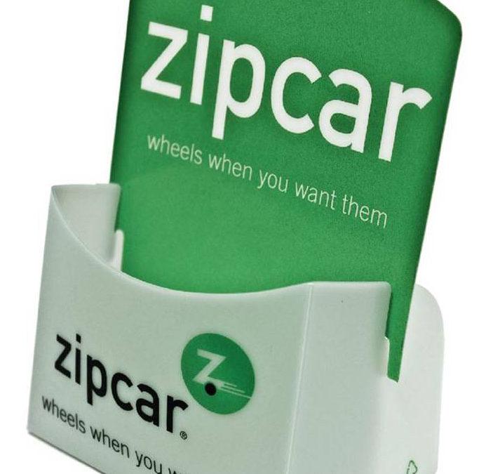 Zipcar Literature Holder, PE Frost